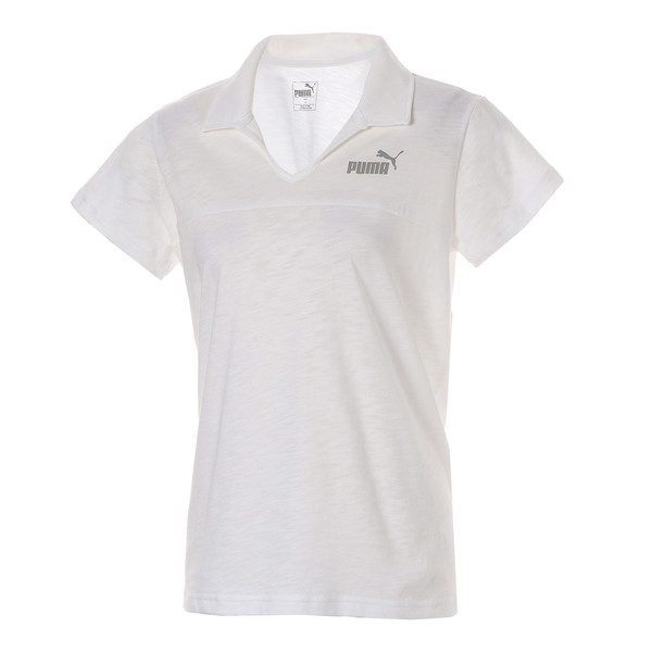 ESS+ ウィメンズ オープンポロシャツ 半袖, Puma White, large-JPN