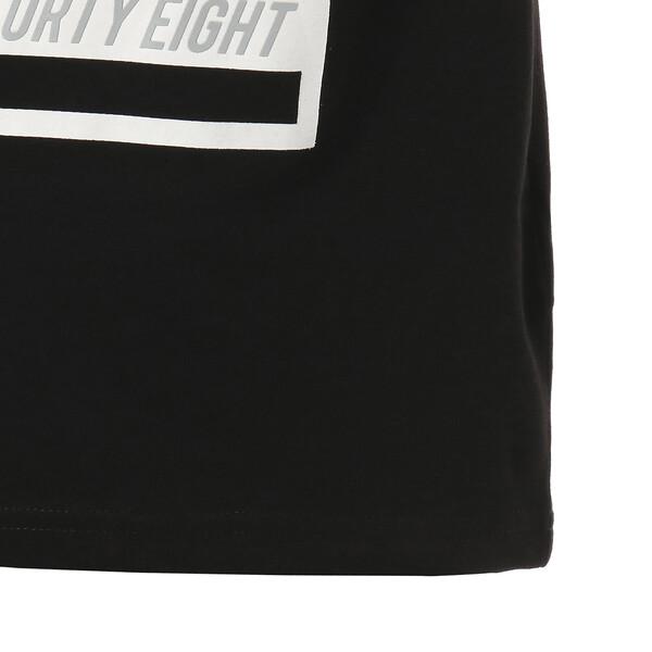 キッズ ALPHA SS グラフィック Tシャツ 半袖, Cotton Black, large-JPN
