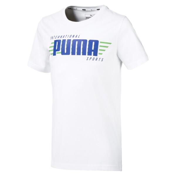 キッズ ALPHA SS グラフィック Tシャツ 半袖, Puma White, large-JPN
