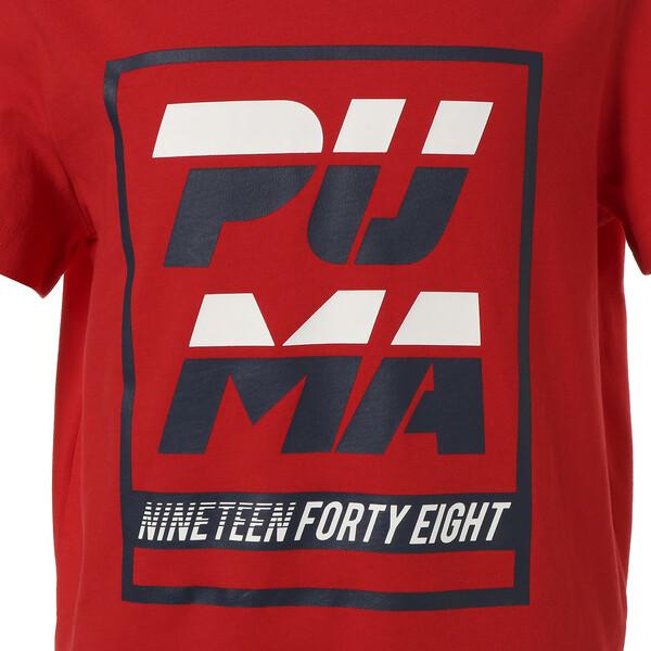 キッズ ALPHA SS グラフィック Tシャツ (半袖), High Risk Red, large-JPN