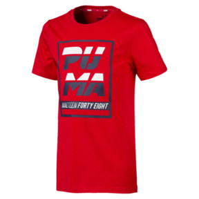 Thumbnail 1 of キッズ ALPHA SS グラフィック Tシャツ (半袖), High Risk Red, medium-JPN