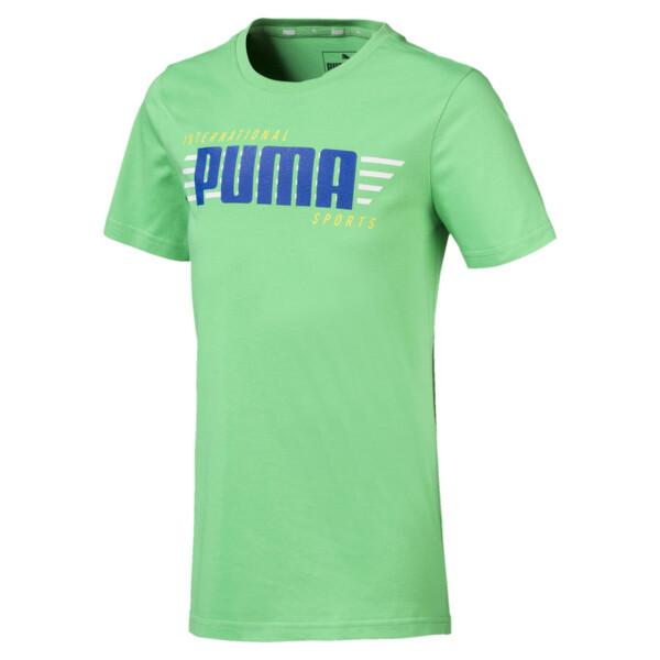 キッズ ALPHA SS グラフィック Tシャツ 半袖, Irish Green, large-JPN