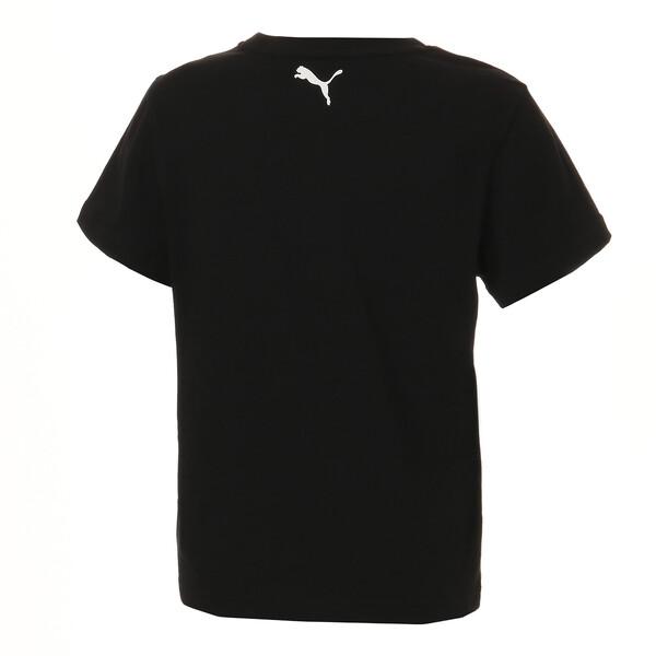 キッズ ALPHA SS グラフィック Tシャツ 半袖, Puma Black, large-JPN