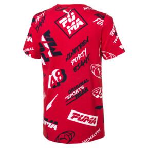 Thumbnail 2 of キッズ ALPHA SS AOP Tシャツ (半袖), High Risk Red, medium-JPN