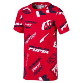 Thumbnail 1 of キッズ ALPHA SS AOP Tシャツ (半袖), High Risk Red, medium-JPN