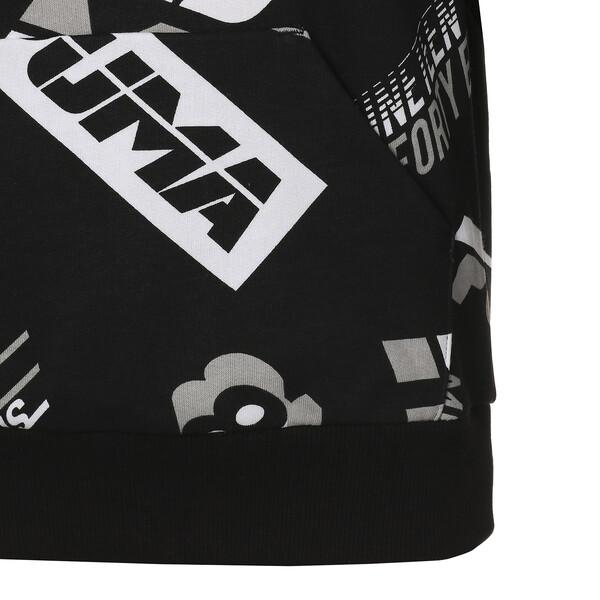 キッズ ALPHA AOP フーディー, Cotton Black, large-JPN