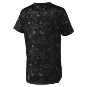 Thumbnail 2 of キッズ ACTIVE SS ポリ AOP Tシャツ (半袖), Puma Black, medium-JPN