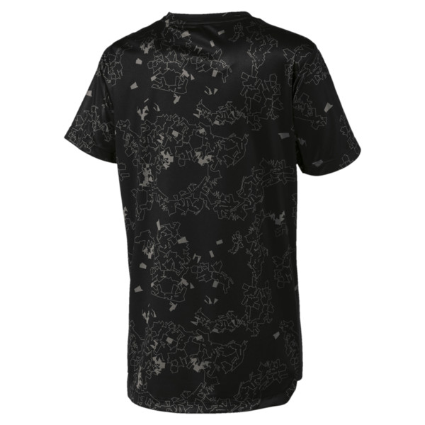 キッズ ACTIVE SS ポリ AOP Tシャツ (半袖), Puma Black, large-JPN