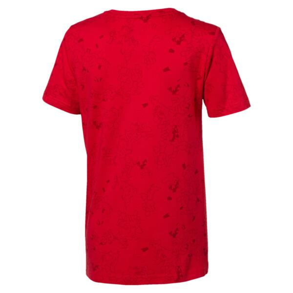 キッズ ACTIVE SS AOP Tシャツ (半袖), High Risk Red, large-JPN
