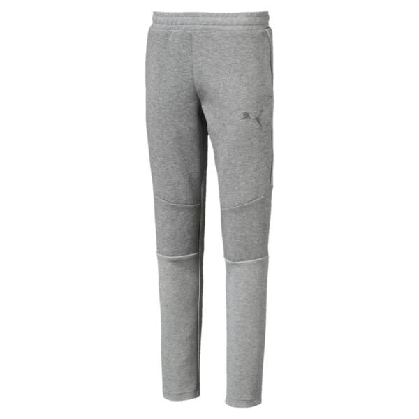キッズ EVOSTRIPE パンツ, Medium Gray Heather, large-JPN