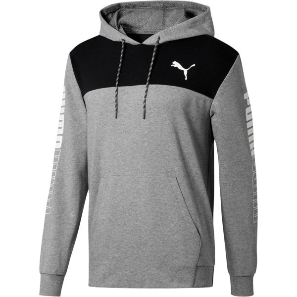 DOUBLE UP HOODIE, MGH-Puma Black-Puma White, large