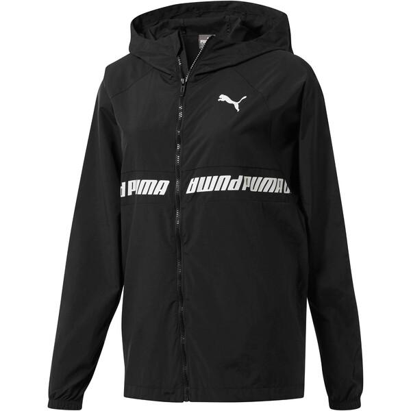 Modern Sports Women's Full Zip Jacket, Puma Black-Puma Black, large