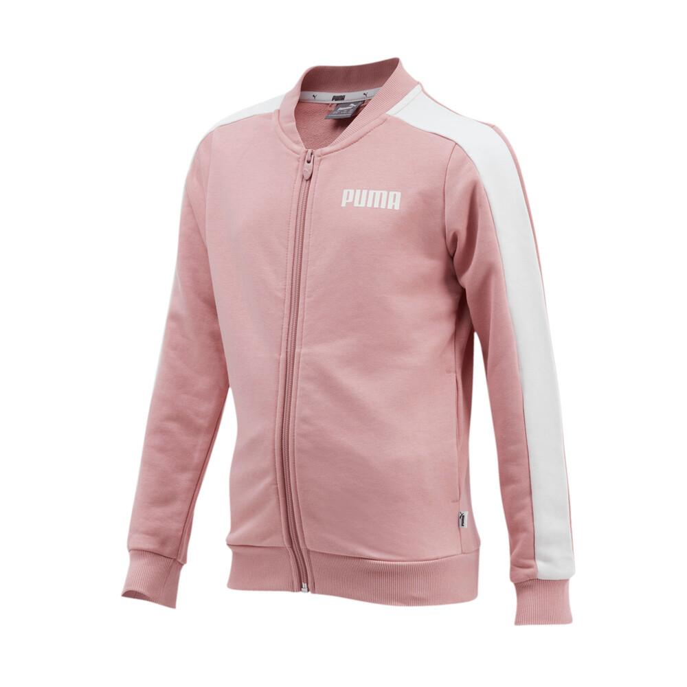 Изображение Puma Детская олимпийка Contrast FZ Jacket TR G #1