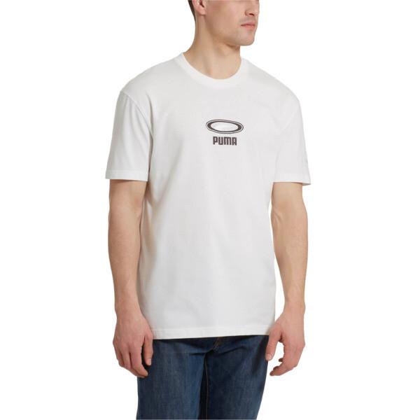 OG Men's Tee, Puma White-White logo, large