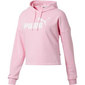 Thumbnail 1 of Essentials+ Logo Women's Cropped Hoodie, Pale Pink-Puma White, medium