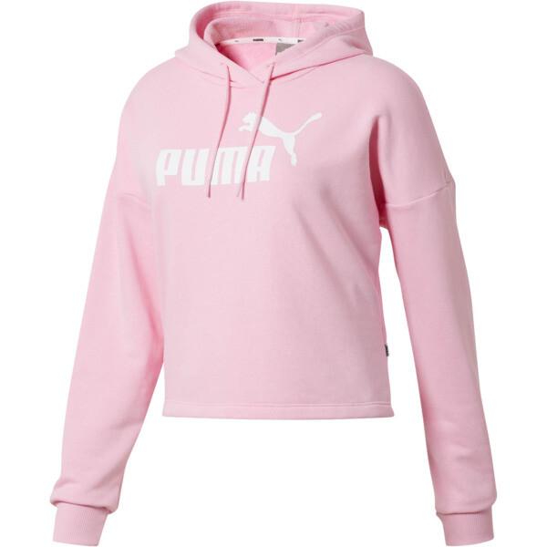 Essentials+ Logo Women's Cropped Hoodie, Pale Pink-Puma White, large