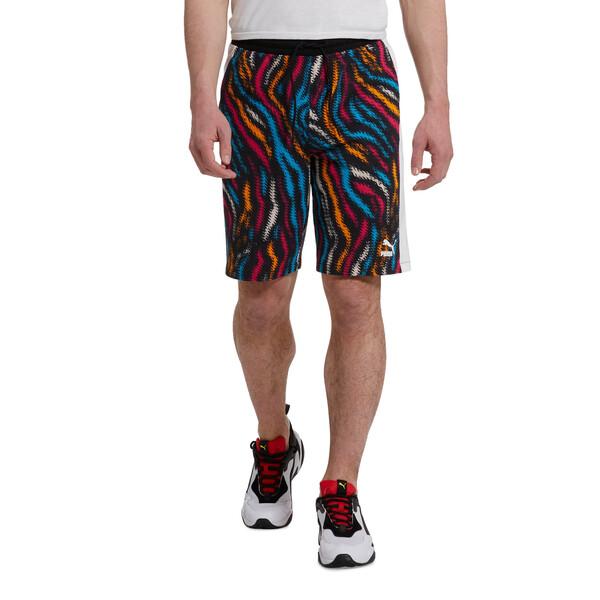 Wild Pack Men's AOP Shorts, Puma White-Colour Zebra AOP, large