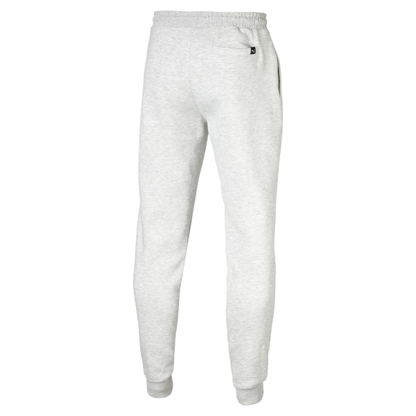 Fleece Men's Sweatpants, Light Gray Heather, large