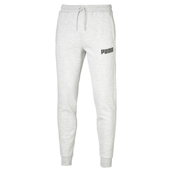 Herren Fleece Sweatpants, Light Gray Heather, large
