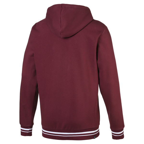 Fleece Men's Hoodie, Tawny Port, large