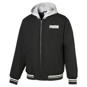 Thumbnail 1 of Hooded Men's Bomber Jacket, Puma Black, medium