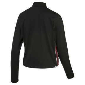 Thumbnail 2 of Damen Langärmliges Crop Top, Puma Black, medium