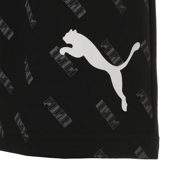 SUMMER ロゴ AOP ショーツ, Cotton Black-AOP, large-JPN