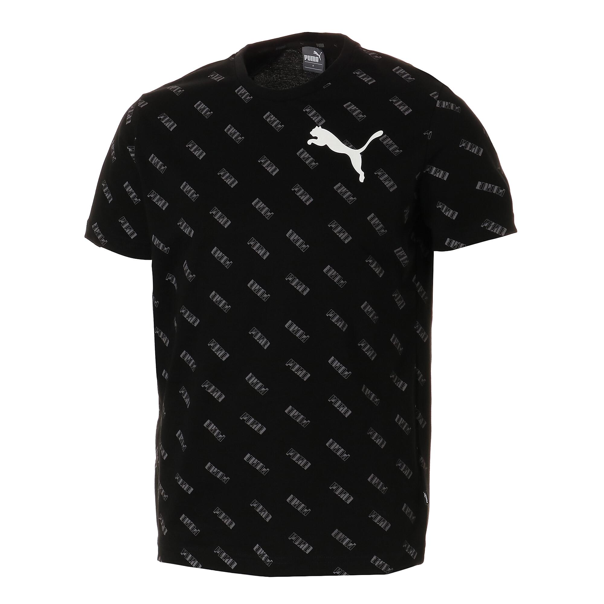 【プーマ公式通販】 プーマ SUMMER ロゴ AOP Tシャツ メンズ Cotton Black-AOP  PUMA.com