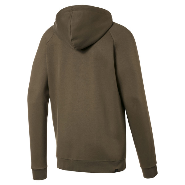 Fleece Full Zip Men's Hoodie, Capers, large