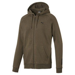 Thumbnail 1 of Fleece Full Zip Men's Hoodie, Capers, medium