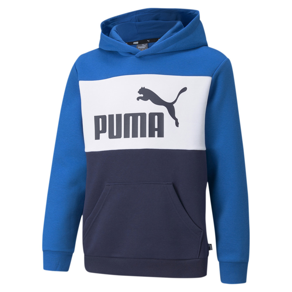 Image PUMA Essentials+ Colour Blocked Youth Hoodie #1