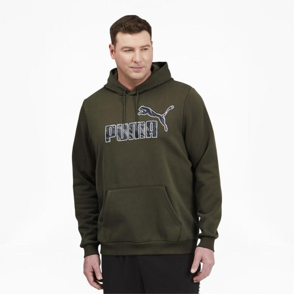 Puma Men's Graphic Hoodie Bt In Grape Leaf, Size Lt