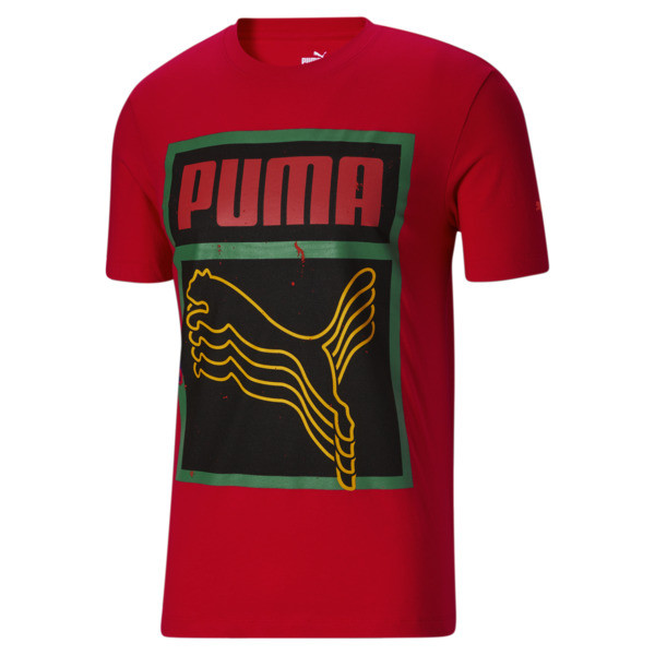 Puma Black History Month Men's T-Shirt In High Risk Red, Size S