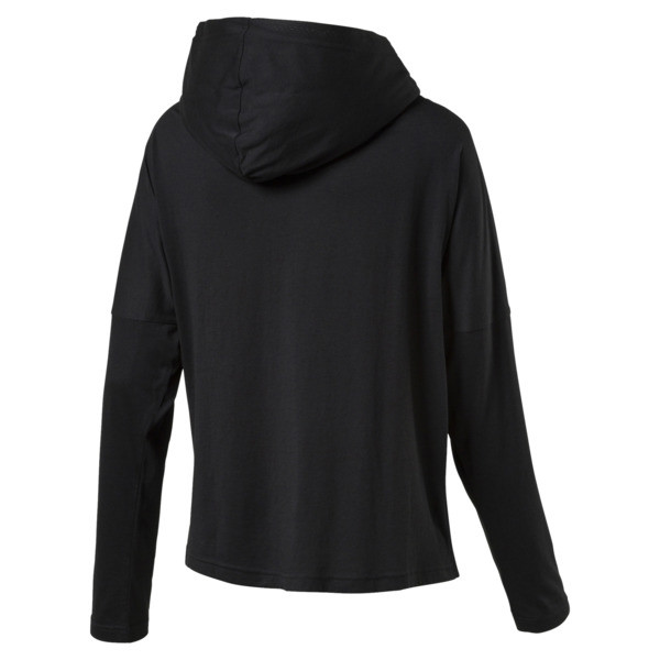 Urban Sports Damen Leichtes Kapuzenoberteil, Puma Black, large
