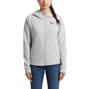 Thumbnail 2 of Training Urban Sports  Women's Full Zip Hoodie, Light Gray Heather, medium