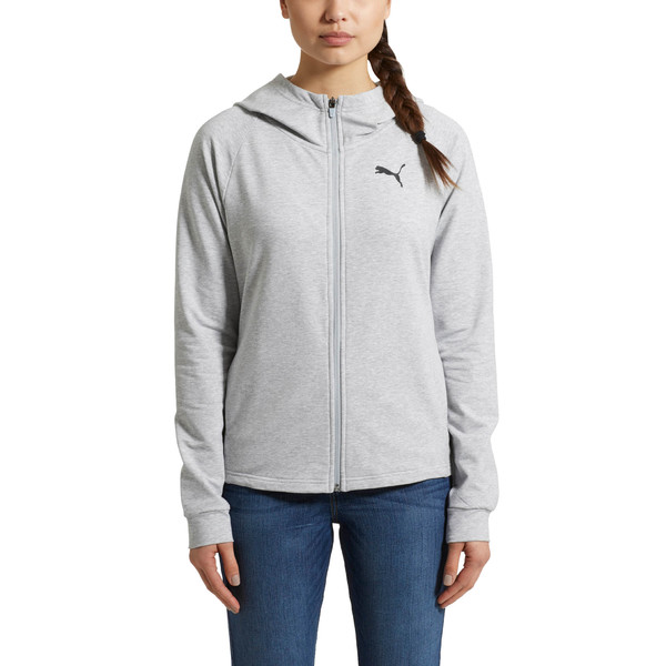Training Urban Sports  Women's Full Zip Hoodie, Light Gray Heather, large