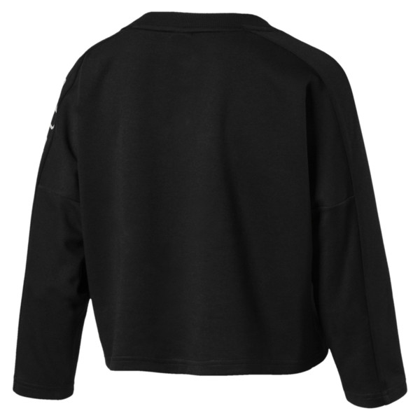 Women's Fusion Cropped 7/8 Sweater, Cotton Black, large