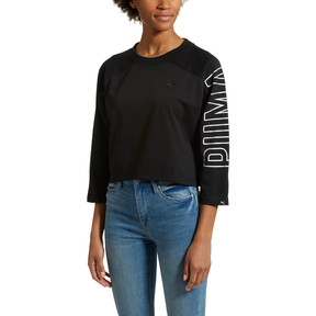 Thumbnail 2 of Women's Fusion Cropped 7/8 Sweater, Cotton Black, medium
