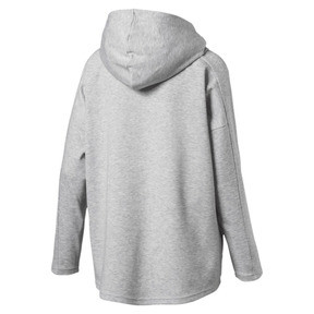 Thumbnail 3 of Women's Fusion Full Zip Hoddie, Light Gray Heather, medium