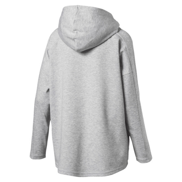 Women's Fusion Full Zip Hoddie, Light Gray Heather, large