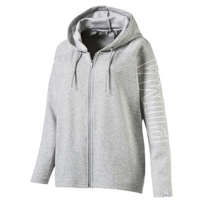 Thumbnail 1 of Women's Fusion Full Zip Hoddie, Light Gray Heather, medium