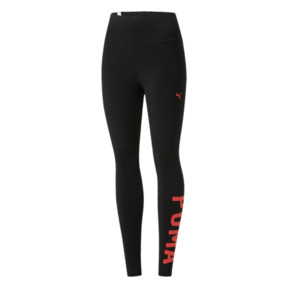 Thumbnail 1 of Athletic Leggings, Puma Black-Paradise Pink, medium