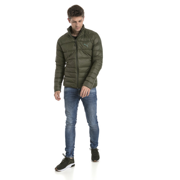 Herren PWRWARM X packLITE 600 Daunenjacke, Forest Night, large