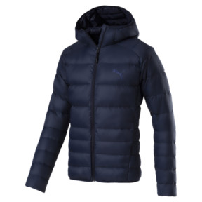 Thumbnail 1 of Men's PWRWARM X packLITE 600 Hooded Down Jacket, Peacoat, medium