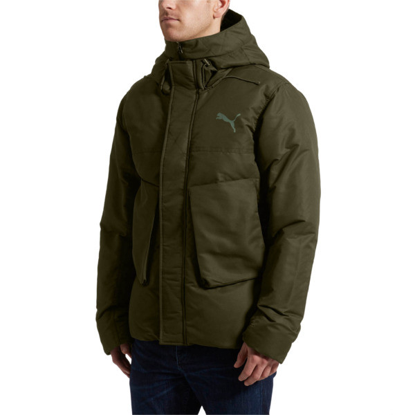 StreetStyle 480 Hooded Down Jacket, Forest Night, large