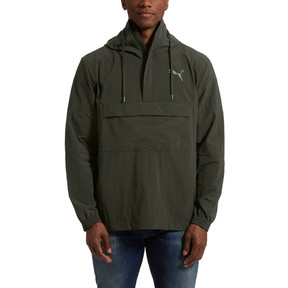 Thumbnail 2 of 1/2 ZIP Windbreaker, Forest Night, medium