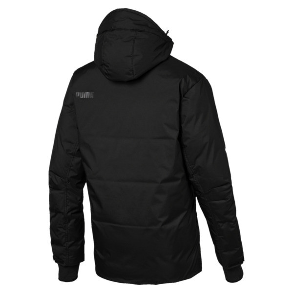 Men's Protect 650 Hooded Down Jacket, Puma Black, large