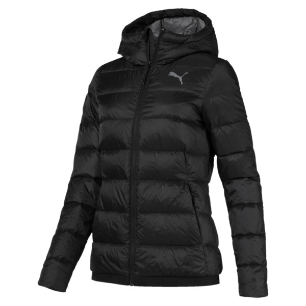 Women's PWRWARM X packLITE 600 Hooded Down Jacket, Puma Black, large