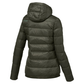 Thumbnail 4 of Women's PWRWARM X packLITE 600 Hooded Down Jacket, Forest Night, medium