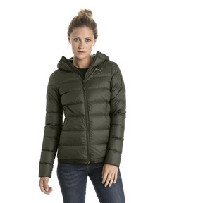 Thumbnail 2 of Women's PWRWARM X packLITE 600 Hooded Down Jacket, Forest Night, medium